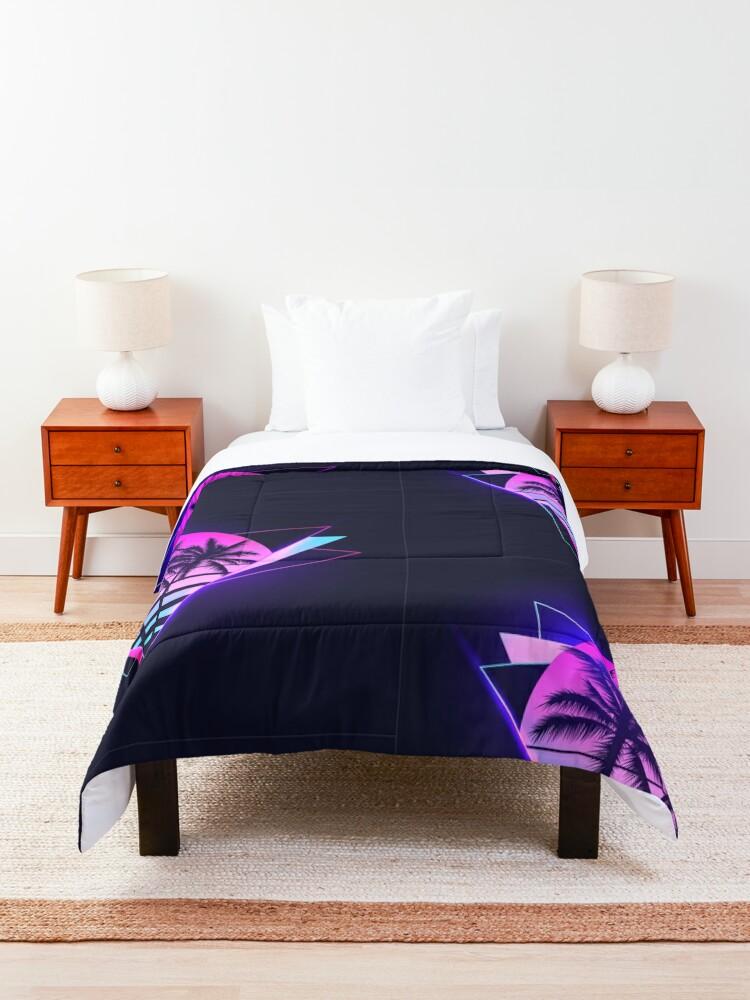 Alternate view of Retrowave 2 Comforter