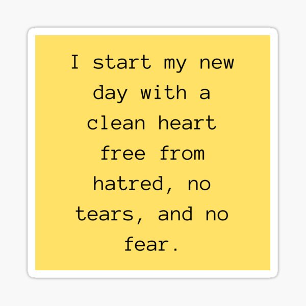 Daily Affirmation For Self Love Sticker