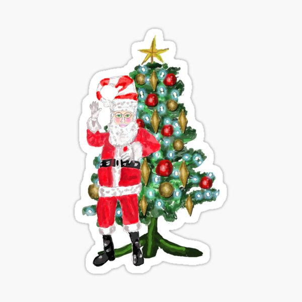 Santa Dreams Sticker