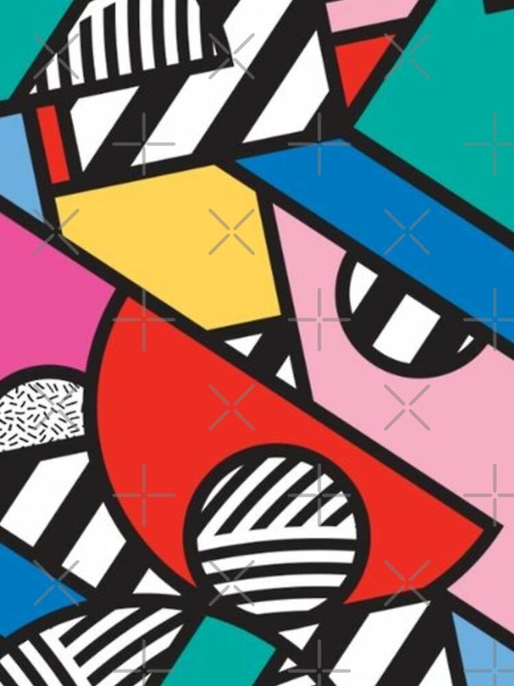 Colorful Memphis Modern Geometric Shapes  by goudham