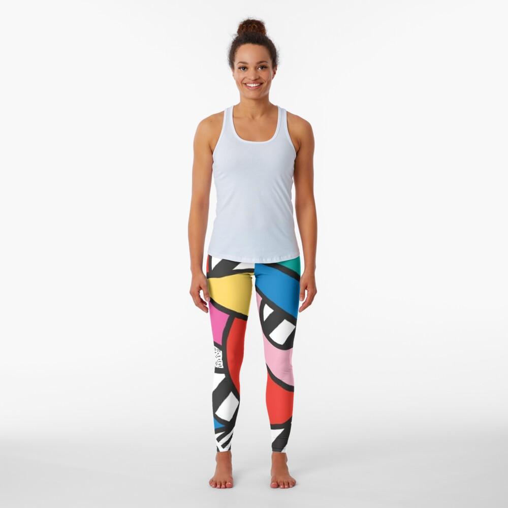 Colorful Memphis Modern Geometric Shapes  Leggings