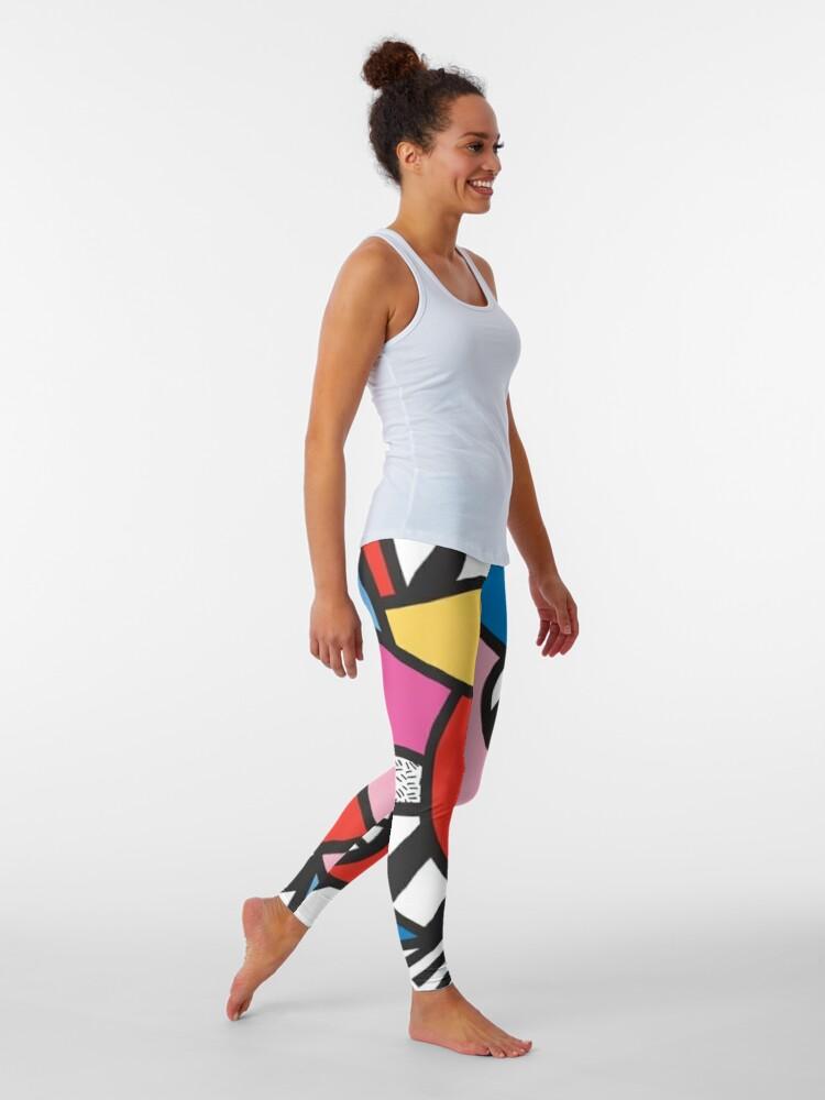Alternate view of Colorful Memphis Modern Geometric Shapes  Leggings