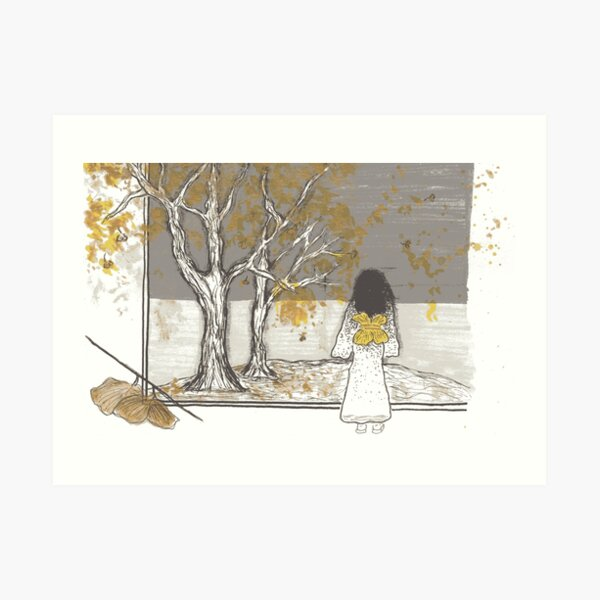 View of the Gingko Trees Art Print