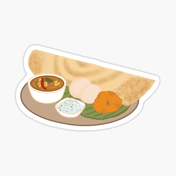 South Indian Food Design Sticker