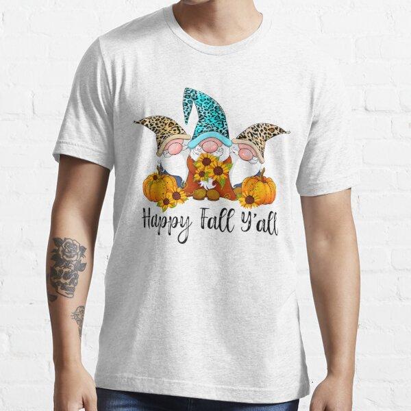 Happy Fall Yall Gnome Leopard Pumpkin Sunflower Autumn Sweatshirt