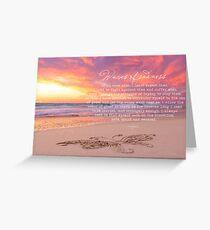 Waves of Sadness Greeting Card