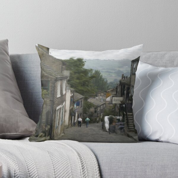 Haworth - Oil Painting Effect Throw Pillow