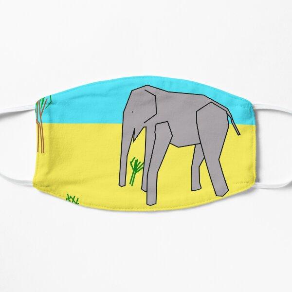 TempleOS desert elephant Flat Mask