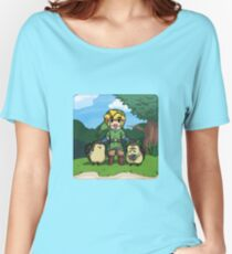 Legend of Zelda Skyward Sword: Link and Kikwis Women's Relaxed Fit T-Shirt