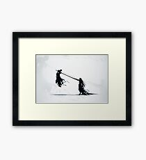 Sephirot vs Cloud Framed Print