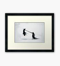 Sephirot vs Cloud Framed Print