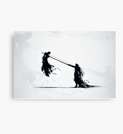 Sephirot vs Cloud Canvas Print