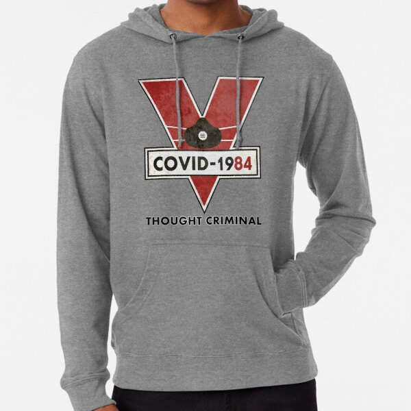 Covid-1984 Thought Criminal Lightweight Hoodie