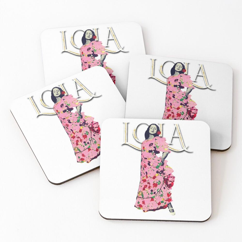 """Lola Flores Diseño """"Lola Embrujo"""" Posavasos (lote de 4)"""