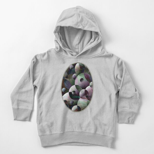 Orbs 3: round spheres abstract Toddler Pullover Hoodie