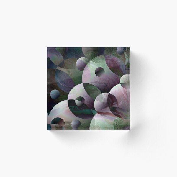 Orbs 3: round spheres abstract Acrylic Block