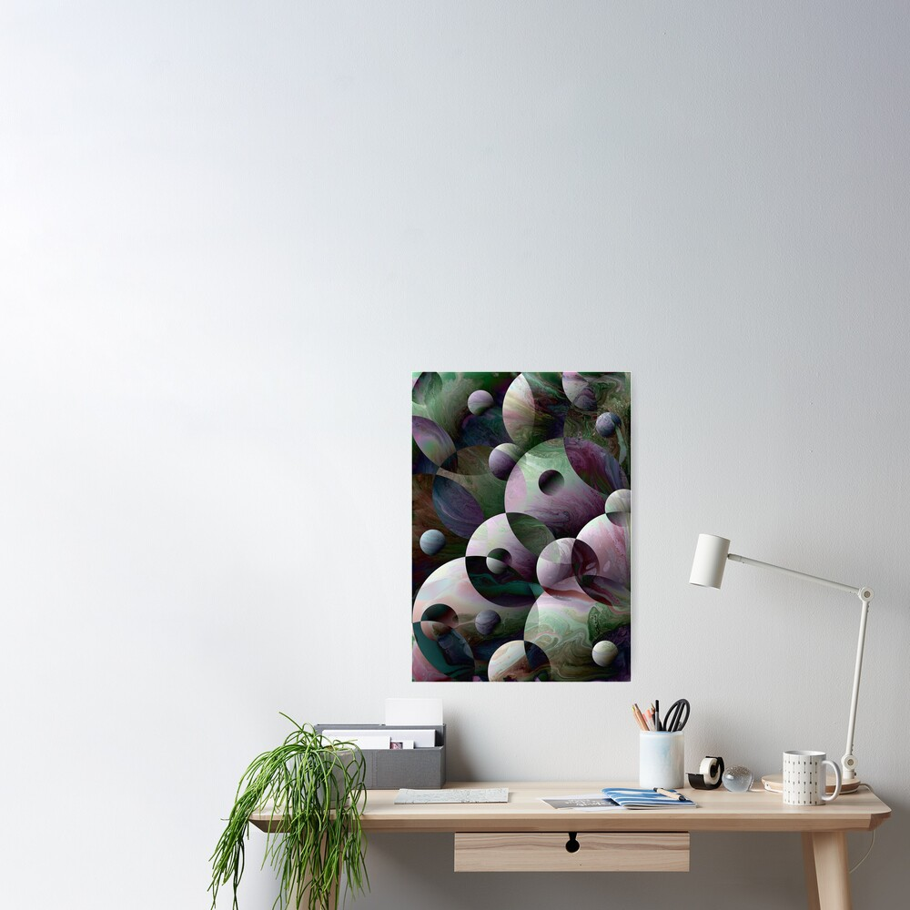 Orbs 3: round spheres abstract Poster