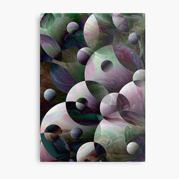 Orbs 3: round spheres abstract Metal Print