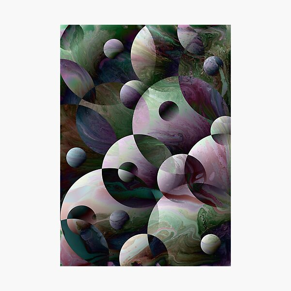 Orbs 3: round spheres abstract Photographic Print