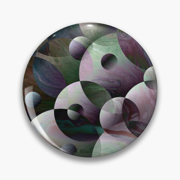 Orbs 3: round spheres abstract Pin