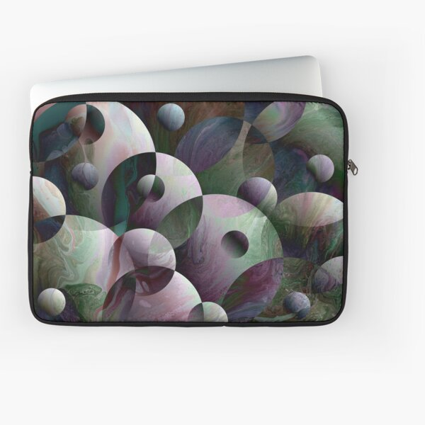 Orbs 3: round spheres abstract Laptop Sleeve