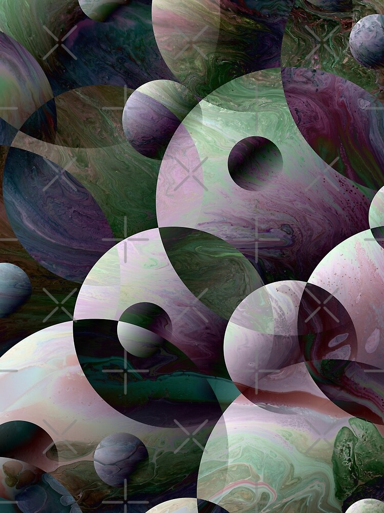 Orbs 3: round spheres abstract by kerravonsen