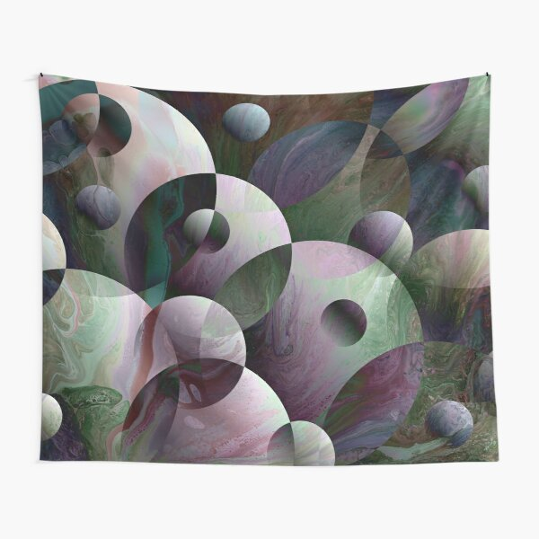 Orbs 3: round spheres abstract Tapestry