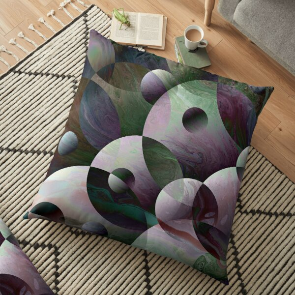Orbs 3: round spheres abstract Floor Pillow