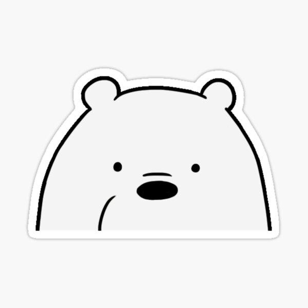 Ice Bear Peeker Sticker