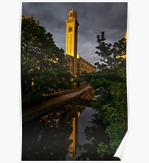 New Mill at Sunset, Saltaire Poster
