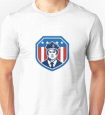American Security Guard Flag Shield Retro T-Shirt