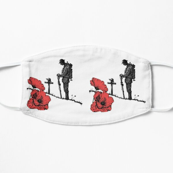 Lest We Forget, Remembrance Day (Colour) Flat Mask