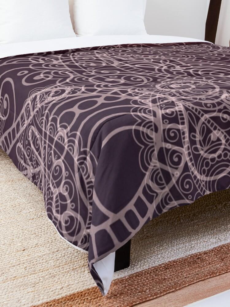 Alternate view of Classic dark purple Comforter