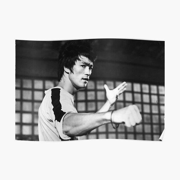Bruce Lee film noir et blanc Poster