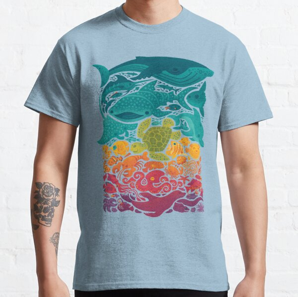Aquatic Spectrum : Light blue Classic T-Shirt