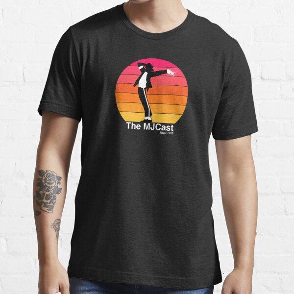 Le coucher de soleil MJCast (texte blanc) T-shirt essentiel