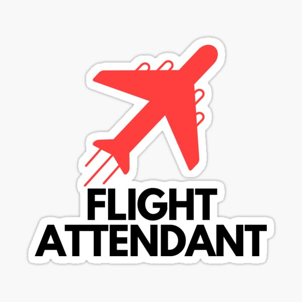 Flight Attendant (Cabin Crew) - With Airplane Flying Sticker
