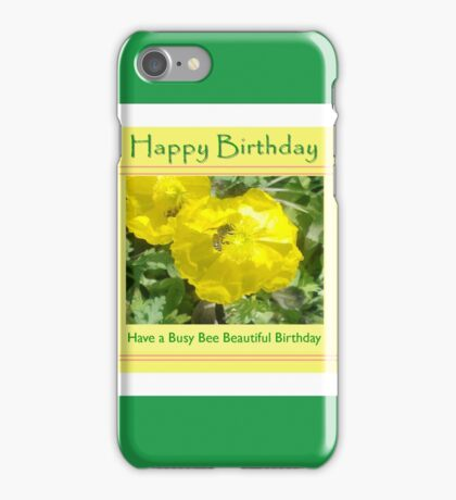 Busy Bee Birthday iPhone Case/Skin