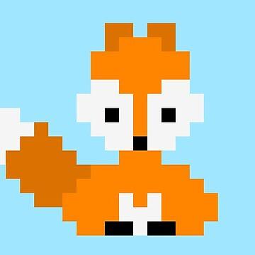 Pixelart fox by thyrza
