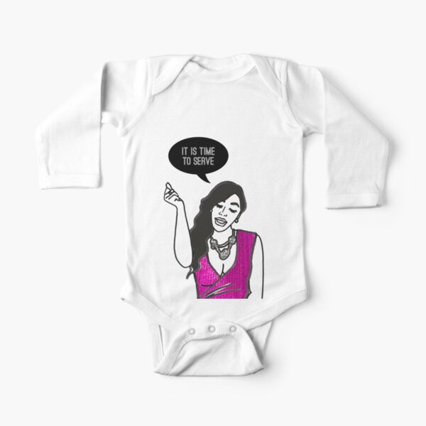 Time to Serve Long Sleeve Baby One-Piece