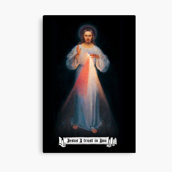 La imagen de la Divina misericordia, regalos católicos y cristianos, Jesús en ti confío Lienzo