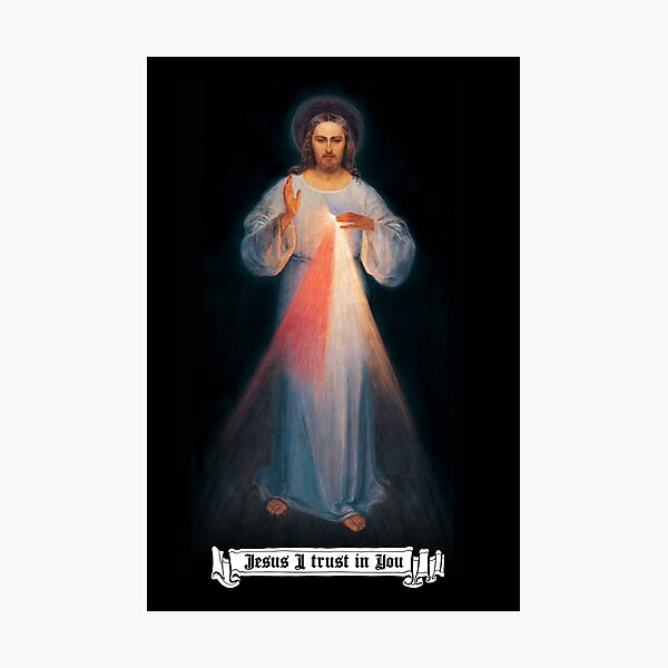 The Divine mercy image, catholic and Christian gifts, Jesus I trust in you Photographic Print
