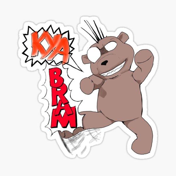 Psycho Ted - KYABRAM Sticker