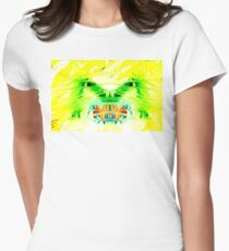 Yellow Psychedelia Women's Fitted T-Shirt