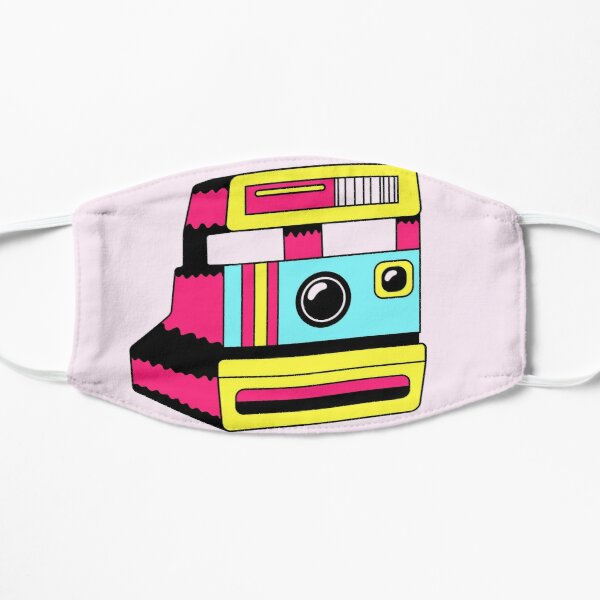retro polaroid camera/ cute vintage 1950s camera/film/ T Shirt for Women Ladies Men Kids Teen Cool Vintage Graphic T Shirt 80s Retro T Shirt Cute Tee Novelty Candy Shirt psychedelic art trippy Flat Mask