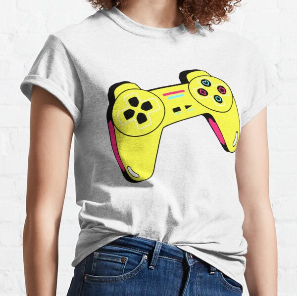 gamer ps3/ps4/ps5 playstation xbox controller/ video game/T Shirt for Women Ladies Men Kids Teen Cool Vintage Graphic T Shirt 80s Retro T Shirt Cute Tee Novelty Candy Shirt psychedelic art trippy Classic T-Shirt