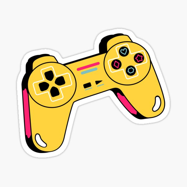 gamer ps3/ps4/ps5 playstation xbox controller/ video game/T Shirt for Women Ladies Men Kids Teen Cool Vintage Graphic T Shirt 80s Retro T Shirt Cute Tee Novelty Candy Shirt psychedelic art trippy Sticker