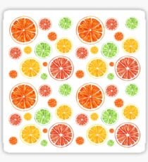 Bright citrus pattern Sticker