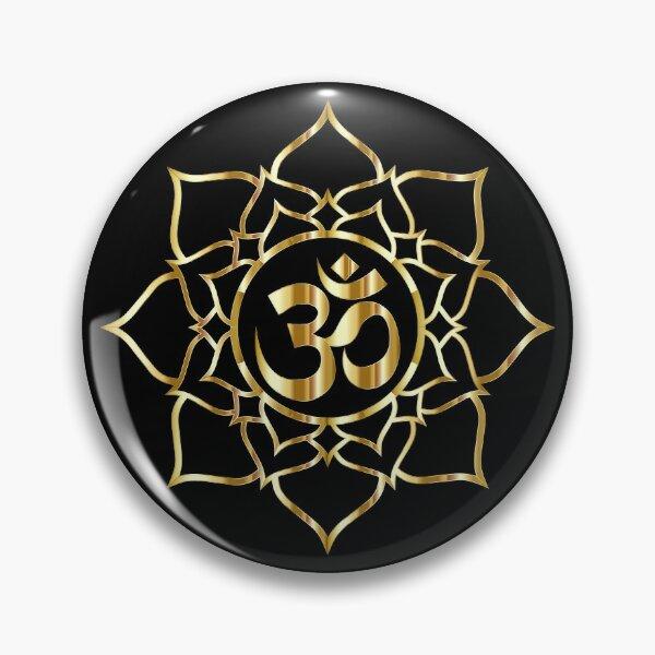 Gold Lotus Aum  Pin