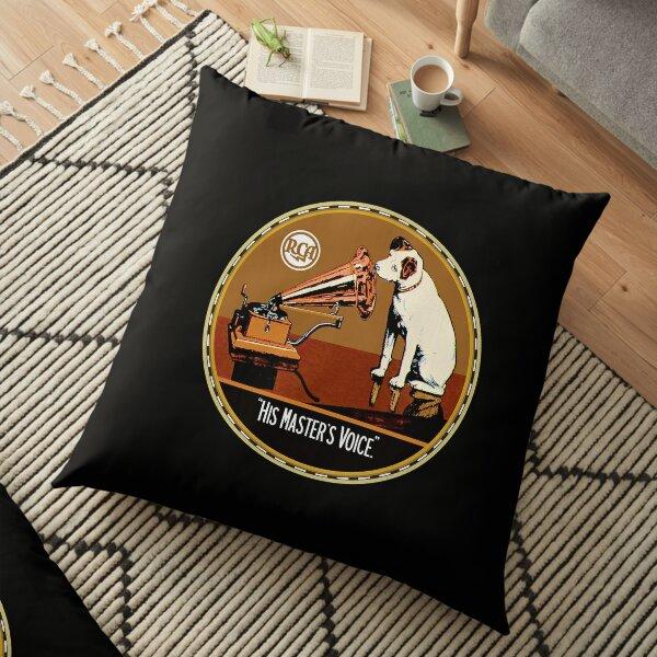 His Masters Voice Floor Pillow